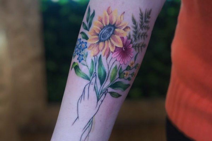 TATTOO – FLOWER ARM FOREARM