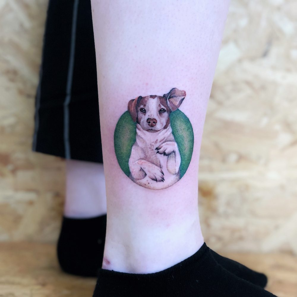 TATTOO – DOGGO  ON LEG