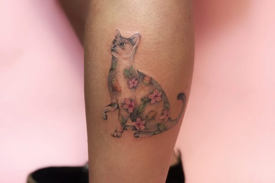 maikoonly_cat_calf_tattoo